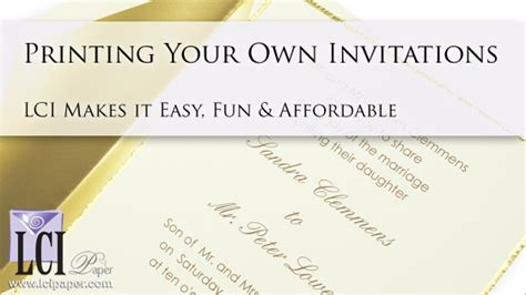 Jawdropping Print Your Own Wedding Invitations