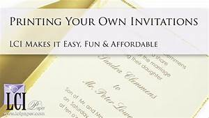 jaw dropping print your own wedding invitations With how to print your own wedding invitations at home