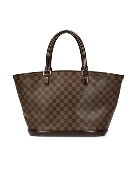 lyst louis vuitton monogram shopper tote  black