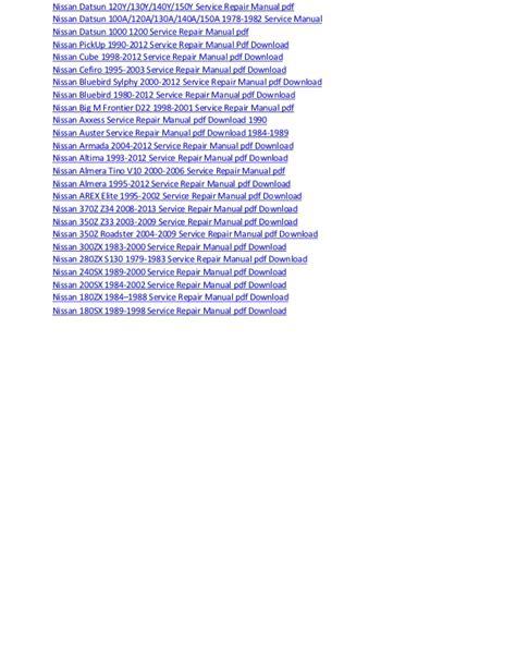 Nissan Trail Electrical Wiring Diagram Manual Pdf Download