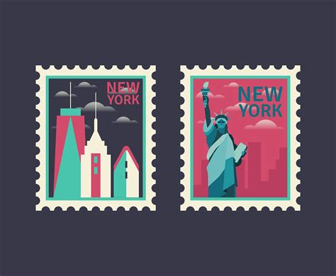 New York Postage Stamps - Download Free Vectors, Clipart ...