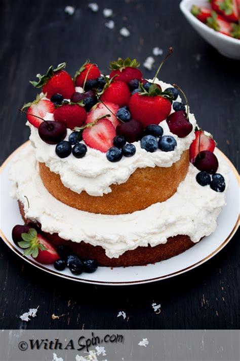 whipped cream  fresh fruit topping cake recipe chefthisup