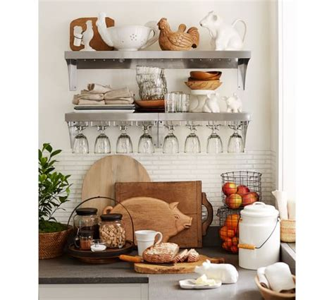 stainless steel wall system pottery barn