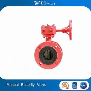 China 300psi Manual Fm Approved Butterfly Valves