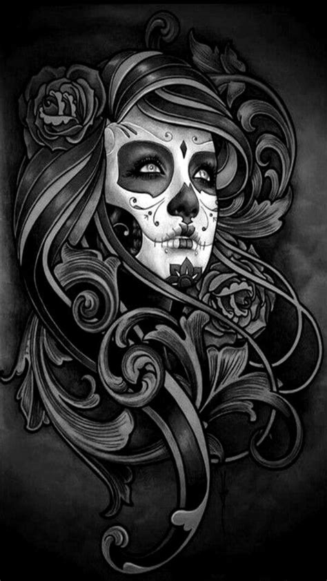 Sugar skull beauty   Gothic fantasy art, Art, Mayan tattoos