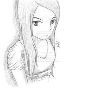 Cartoon Girl Sketches Drawings