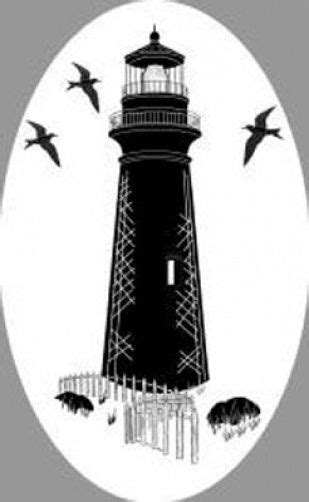 LIGHTHOUSE static cling etched glass window decal, for