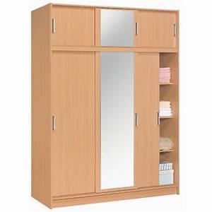 Porte Coulissante Miroir : armoire 3 3 portes coulissantes miroir tous les ~ Carolinahurricanesstore.com Idées de Décoration