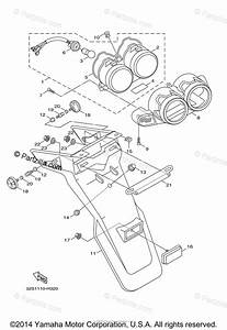 Yamaha Scooter 2015 Oem Parts Diagram For Taillight