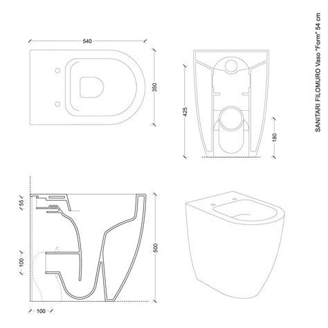 Sanitari Bagno Disabili Sanitari Filoparete In Ceramica Wc Bidet Design Moderno