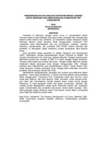 PENGEMBANGAN DAN ANALISIS SISTEM INFORMASI ABSENSI SISWA