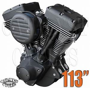 113 U0026quot  Ultima Engine  U0026quot Black Out U0026quot  El Bruto Complete Motor For Harley Evo Engine