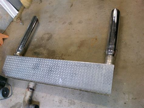 complete exhaust stack stacks kit miter cut