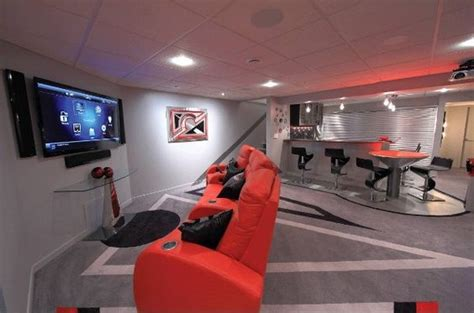 Ultimate Basement Game Room This Viewing Area Features