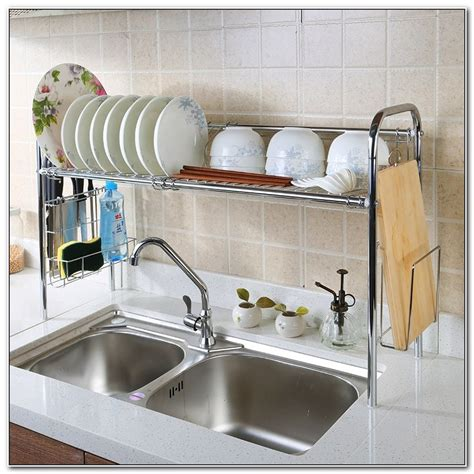 over the sink dish drainer stainless steel over sink dish drainer sinks and faucets