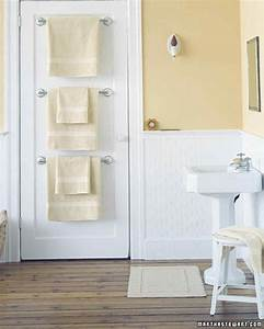 25 bathroom organizers martha stewart With where to put towel bar in small bathroom