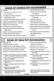 healthy vs unhealthy boundaries worksheets