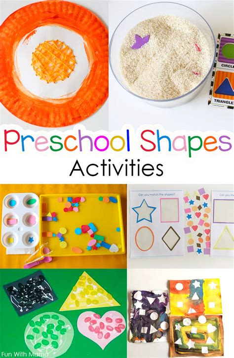 best colors and shapes activities for preschoolers 640 | preschool shapes activities