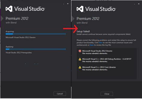 Resume Visual Studio Installation by Windows 8 Visual Studio 2012 Installation Gives Error