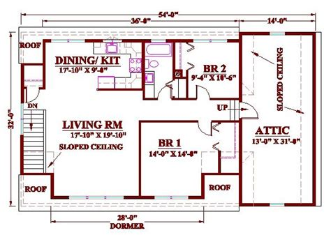 Two Bedroom Garage Apartment Plans