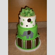 Green And Brown Elephant Cake Cakecentralcom