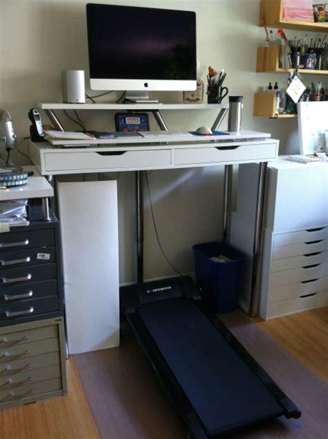 Ikea Computer Desk Hack by Ikea Hack Treadmill Desk Ikea Hack Standing Desk