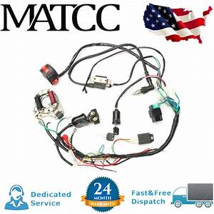 U2611 Ufe0f Cdi Wire Wiring Harness Assembly Kit Atv Electric Start