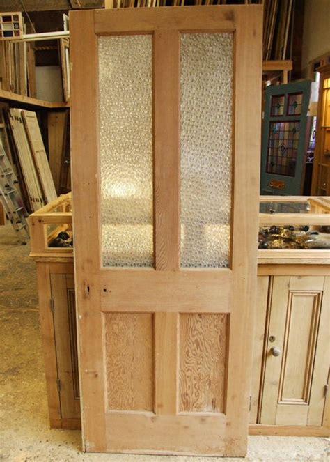 reclaimed pine edwardian internal door stained glass