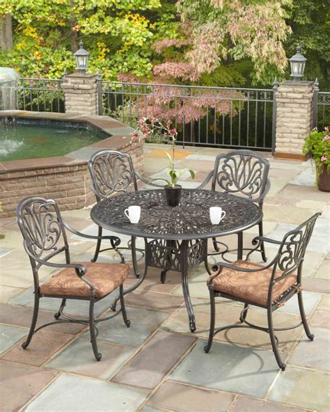 floral blossom 5 patio dining set with 42 inch table