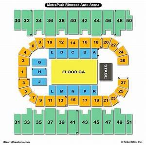 Diagram Of Seating At Rimrock Arena