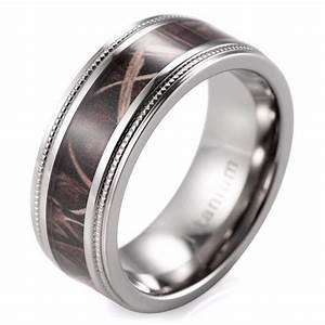15 inspirations of men39s hunting wedding bands for Wedding rings on line