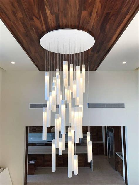 modern chandeliers for high ceilings modern foyer chandelier for entrayway or stairway lighting