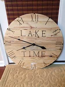 Wood, Burned, Pallet, Clock, Lake, Time, With, Images