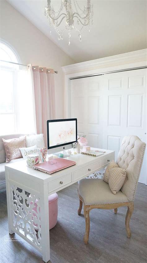 cute office  desk space