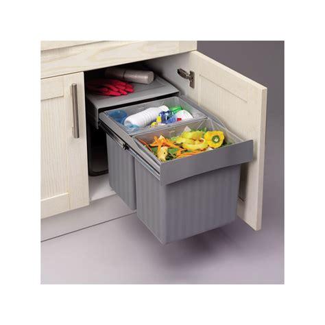 poubelle cuisine 20 litres poubelle cuisine encastrable coulissante maison design