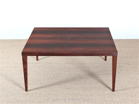 table basse carree 100x100 scandinavian occasional table in rosewood galerie m 248 bler