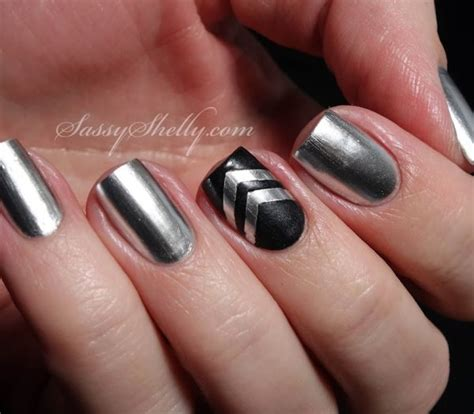 black and silver nail designs top 50 silver nail designs that you will