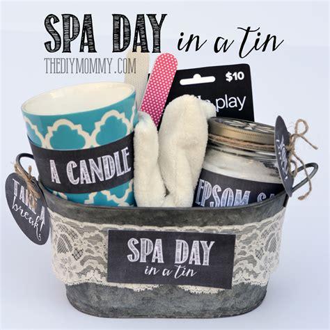gift   tin spa day   tin  diy mommy