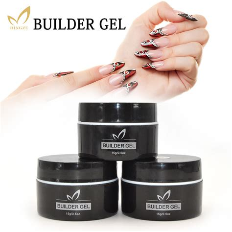 gel nail uv l monasi uv builder gel nail varnish pink clear 15ml finger nail extension uv gel nail cover