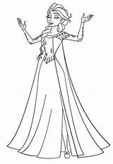 Elsa Frozen Coloring Pages Drawing Queen Outline Castle Singing Princess Disney Drawings Snowflake Template Elsas Paintingvalley Sketch Poppy Belle Getdrawings sketch template
