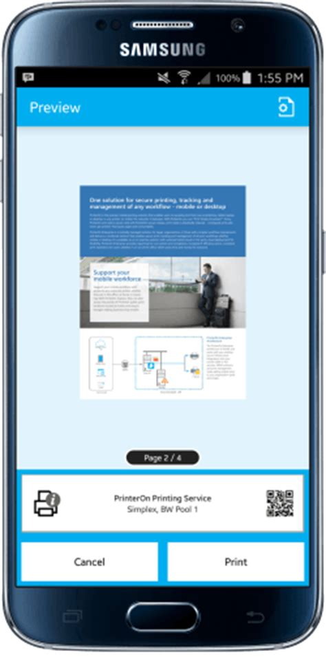 free print apps for android android printing cloud print app printeron