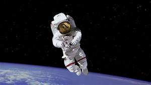 HD (2K) astronaut on space walk in space Motion Background ...