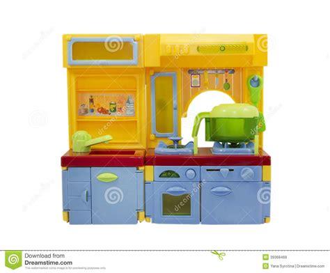cuisine plastique jouet jouet en plastique de cuisine d 39 isolement sur le blanc