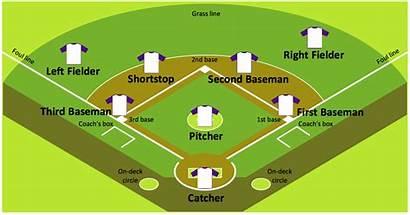 Baseball Field Sample Diagram Positions Softball Diamond