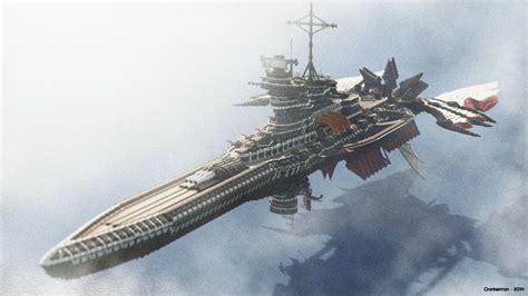 Anime Island Bs Class Battleship A Steunk Ish Airship Minecraft