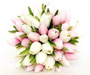 tulip bouquet wedding wedding bouquet tulip pink wedding bouquet pink and white tulip bridal bouquet real to touch
