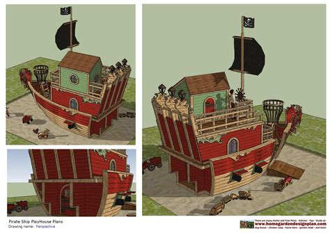 home garden plans ps pirates ship playhouse plans