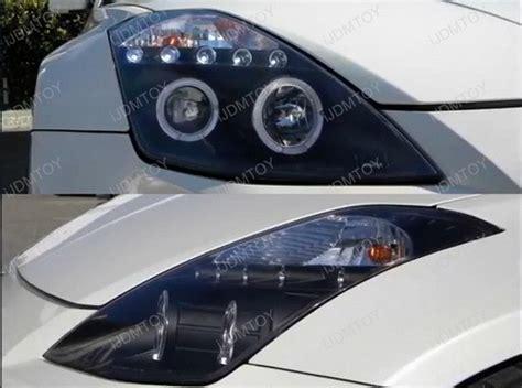 03-05 Nissan 350z Black Dual Halo Angel Eyes Projector Led