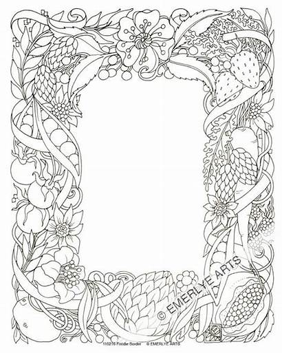 Border Drawing Coloring Pages Flower Adult Line