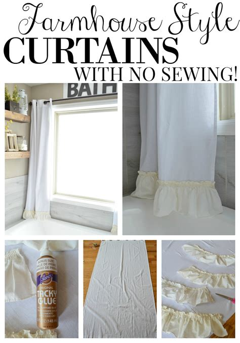 no sew farmhouse curtains vintage nest
